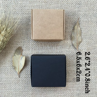 Wholesale Gift Boxes For Wedding Presents - 50PCS 6.5*6*2cm Natural Kraft Carton Packing Box Caixa Presents Candy Box Wedding Favors and Gifts for Guest Soap Package Boxes