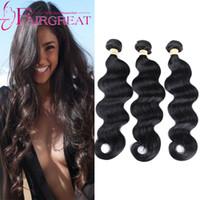 Wholesale Cheap Loose Wave Brazilian Hair - Brazilian Loose Wave Hair 3pcs Natural Color 100g PCS Brazilian Human Hair Extensions Natural Cheap Brazilian Loose Wave Human Hair Products