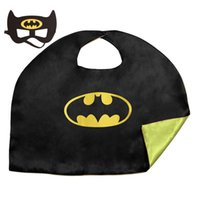 Wholesale Hero Costumes For Boys - Children's Satin Capes and Masks Superhero Capes For Boys and Girls Birthday Party Cosplay Costumes and Halloween Christmas Gifts