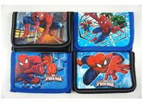 Wholesale Various Cartoon - Hot !New! 48pcs Super Hero Spiderman Cartoon Children's Kids Boys Various Stocking Filler Wallet Purse Coins Bag Popular Gift