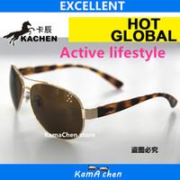 Wholesale Active Sunglasses - KaChen Active style Black frame UV400 meetal frame protection Gradient gray sunglasses glasses men women