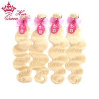 Wholesale Hair Extensions Light Blond - European Virgin Human Hair #613 Light Blond Blonde Color Body Wave (100gram) 100% Human Hair Weave Extensions DHL Free Shipping