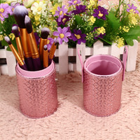 Wholesale Eco Friendly Makeup Brushes Wholesale - Hot Sales New High Quality Travel Leather Cosmetic Brush Pen Holder Makeup Brushes Tools Storage Empty Holder Makeup Organizer Bag 12 colors