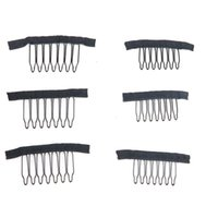 Wholesale Hair Insert Comb - 7teeth Wig combs Clips lace Wig clips Attach Caps Wig Combs Insert Wig Clips hair extensions tools
