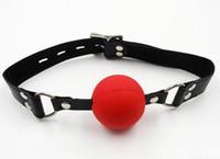 mordaças de bola bondage masculino venda por atacado-Bola de Travamento clássico Mordaça de Plástico Rígido Oco BDSM Bondage Bola Gags Sex Toy Para O Sexo Masculino Feminino Escravo