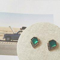 esmeralda acessórios venda por atacado-Mulheres Hot Elegante Brincos Da Orelha Esmeralda Gem diamante Ctystal Rhinestone Jóias Brinco Earing Ear Anel Eardrop Ear Acessórios Livre DHL
