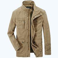 army clothing großhandel-AFS JEEP marke Mens gute qualität Frühling Herbst jacken männer baumwolle militär armee soldat Waschen baumwolle jacke kleidung männer 160