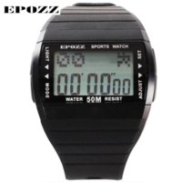 Wholesale Student Swimming - Epozz fashion brand digital student men sports watches swimming waterproof 50 m multi function Led display back light rubber