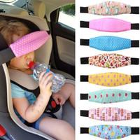 baby sicherheitsgurte großhandel-Kinderwagen Autositz Schlafpositionierer Kinderwagen Baby Kopfstütze Befestigungsgurt Verstellbarer Kinderwagen Zubehör