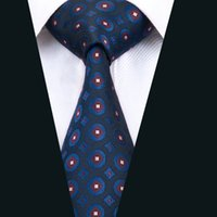 Wholesale Meeting Quality - Classic Silk Mens Ties Blue Tie High Quality Silk Tie Jacquard Woven Business Wedding Meeting Party Prom Free Shipping D-1421