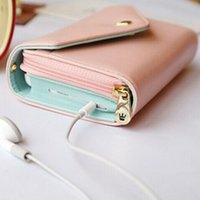 Wholesale Crown Pouch Flip - Handmade Wallet Case Crown Smart Case Pouch Leather Flip Case for iPhone 5 6 Best Selling Wholesale Price Card Pocket Case Free Shipping