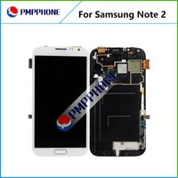 Wholesale Galaxy Ii Lcd Display - LCD For Samsung Galaxy Note 2 II N7100 N7102 N7108 N719 N7105 L900 I605 LCD Display Touch Screen Digitizer with Frame Assembly