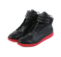 Wholesale Red Black High Heeled Boots - maison martin margiela sneakers men's latest flat bottomed genuine leather casual shoes men's boot Liqun Boots Highest version