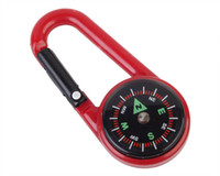 überleben keychain werkzeug großhandel-Camping Wandern Bergsteigen Portable Schnalle mit Kompass G27 Hartplastik Outdoor Keychain Überlebenswerkzeuge Travel Kit