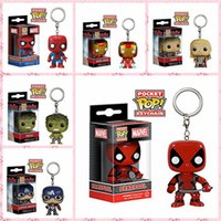 Wholesale Giant Spider Man - funko pop dead masons giants iron iron thunderbolt spider man q version of the key button hand office toy wholesale free shipping