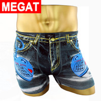 Wholesale Spandex Mens Boxer - Wholesale-2016 Cute Love keychain underwear men sexy mens underwear boxers Funny mens cotton boxer shorts print men underpants Megat brand