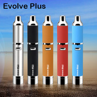 Wholesale E Cigarette Wax Vaporizer - Authentic Yocan Evolve Plus Kit 1100mAh Battery E Cigarettes Quartz Dual Coil Wax Vaporizer Pen Kits Colors