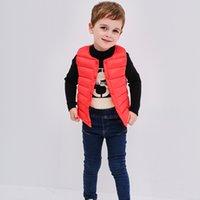 Wholesale Boy Down Liner - Winter Korean children's vest children's boys and girls children's clothing 90% white duck down jacket warm vest liner