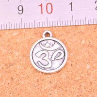 Om yoga charms canada best selling om yoga charms from top sellers 83pcs antique silver plated yoga om charms pendants for european bracelet jewelry making diy handmade 15mm mozeypictures Images