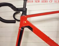 Wholesale Taiwan Road Bike Frames - 2018 NEW T1000 UD AERO CF SLX full carbon road bike frame racing bicycle frameset frames with handlebar size XXS XS S M L made in taiwan