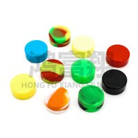 Wholesale 100pcs ml mini assorted color silicone container for Dabs Round Shape Silicone Containers wax ZD083B