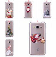 Wholesale Silicone Tree - Merry Christmas Tree Snowman TPU Soft Case For Samsung Galaxy S8 Plus NOTE8 S7 Edge J310 J510 J3 J5 J7 2017 EU Santa Claus Crystal Cover