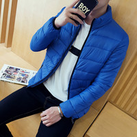 Wholesale qiu dong jacket - Wholesale- Cheap wholesale 2017 new Qiu dong han edition cultivate one's morality man cotton-padded jacket coat collar short paragraph
