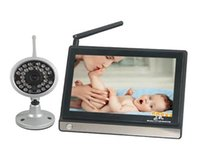 Wholesale 7inch Lcd Display - Hot selling 2.4G Wireless Baby Monitor 7inch LCD IR Nightvision Portable Water Resistant Baba Electronics Com Video