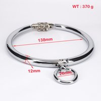 Wholesale Metal Collar Sex - Metal Collar With Password Sex Toys For Couples For Woman Stainless Steel Locking Bondage Sex Games For men Adult SM Toys