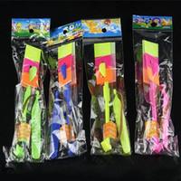 ingrosso fantoccio di natale-Più nuovo giocattolo LED Incredibile freccia Elicottero elicottero volante LED Flyer Arrow Arrow elicottero OTH058