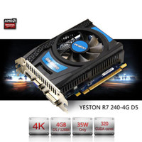 Radeon R7 200 Series R7 240 GPU 4 GB GDDR5 128 bit Gaming Desktop PC Tarjetas gráficas de video son compatibles con VGA / DVI / HDMI