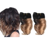 spring curl hair - New Fashion Inch Brazilian Fumi Spring Curl Hair Wefts Human Hair Weave Ombre Short Big Loosewave Hair Extension g pc