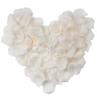 Wholesale Bridal Decor Petals - 100pcs lot Champagne Silk Rose Petals Flower Celebration Wedding Party Banquet Decor MultiColors Bridal New