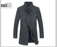 Top da uomo in lana slim fit X-Long Business da uomo Cappotto monopetto in trench con giacca monopetto
