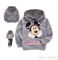 Wholesale Kids Jacket Animal Hoodie - Girls and boys jacket kids hoodies coat children clothing kids pure cotton cartoon mickey coats 2 colors size 3-7T 2016autumn winter coats.