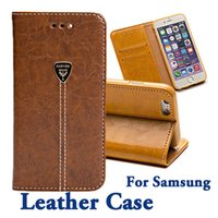 Wholesale Galaxy S4 Case Slim Wallet - For Samsung Galaxy S7 S6 Edge S4 S5 Note 3 4 5 New Luxury Slim Fit Fashion Flip Leather Case Wallet Stand card slots
