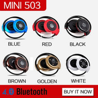 Wholesale Ear Hook Computer Earphone - MINI503 New Arrival Perfect mini sport bluetooth wireless headphones Music Stereo Bluetooth Earphones phone Computer PC headset