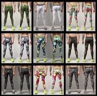 Wholesale Cross Base - 2016 new 10pcs Mens Running Camo Base Layer Fitness Jogging Compression Tights Long Pants Sport Basketball Training Leggings Mens Gy