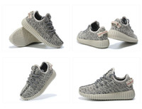 Wholesale Oxford Lace Up Shoes Girl - Free Shiping Children Athletic Boys And Girls 350 Boost Pirate Black Moonrock Oxford Tan Turtle Dove Sneakers Kids Running Shoes