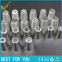 Wholesale Cake Mouth Nozzle - New hot Stainless Steel Ice Cream Dessert Tools Special Decorating Mouth Cake Decorating Tips Icing Nozzle Baking Pastry Tools