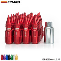 Wholesale Key For Honda Civic - EPMAN Racing Aluminum Lock Lug Nuts With Spikes 20pcs 12x1.5 W Key Universal Fit For Honda Civic Toyota EP-E650H-1.5JT