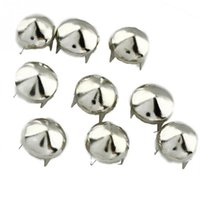 Wholesale Nailhead Spots Wholesaler - 6 mm Silver Round Cone DIY Studs Rivet Nailhead Spots Rock Punk Spike 200pcs Lot