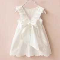 Wholesale Children Military Clothing Wholesale - 2016 Summer New Princess Girl Dress Kids Big Bow Girl Dress Children Clothing Girls Dresses Girls Vestido