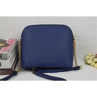 Wholesale Luxury Bag Summer - Wholesale-Promotion! fashion famous brand woman luxury cross body cross chain shell bag killer real cow Genuine leather summer beach bag