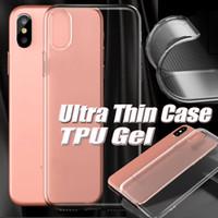 Wholesale Slim Case Iphone Free - Ultra Slim TPU Case For Iphone X Clear Transparent Skin Soft Slim Cover TPU Gel Case For Iphone 8 7 plus 6 6S Free Shipping DHL MOQ: 1000pcs