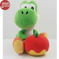 Wholesale Rare Video Games - New Super Mario Bros Yoshi and Apple Green Rare Soft Anime Plush Toy Doll Baby Toy Kids Gift 18cm with Tracking