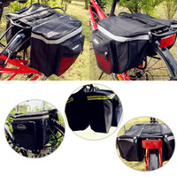 Wholesale Back Bike Pannier - Blue Red Black 2016 hot sale factory directly Cycling Bicycle Bike Rack Back Rear Seat Tail Carrier Trunk Double Pannier Bags Rear Bags