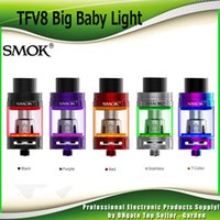 Wholesale Led Ohm - Original SMOK TFV8 Big Baby Tank Light Edition 2ml 5.0ml Top Filling Airflow Changeable LED Sub Ohm Atomizer For V8 Baby Coil 100% Authentic