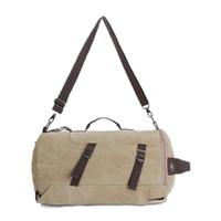 Wholesale Shoulder Bag Minimalist - Wholesale-Travel Bag Fashion Backpack Minimalist Hot Multifunction Washed Canvas Shoulder Bag Men Leisure Large Capacity Tote 5 Colors