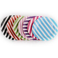 Wholesale Striped Paper Plates - FEELING WELL Big Party Disposable Striped Birthday Wedding Party Bright Round Cake Paper Dessert Plates Pack of 60 PCS 7-Inch